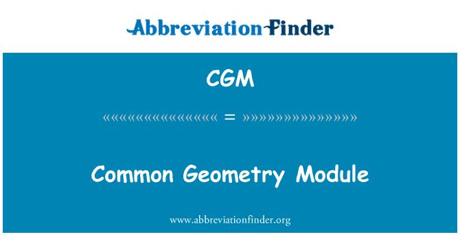CGM: Common Geometry Module