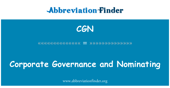 CGN: Corporate Governance and Nominating