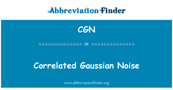CGN: Correlated Gaussian Noise