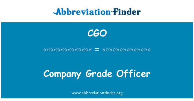 CGO: Company Grade Officer