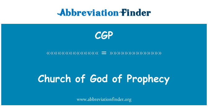 CGP: Church of God of Prophecy