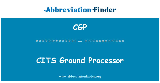 CGP: CITS Ground Processor