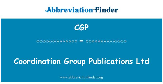 CGP: Coordination Group Publications Ltd
