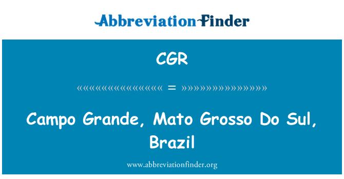 CGR: Campo Grande, Mato Grosso Do Sul, Brazil