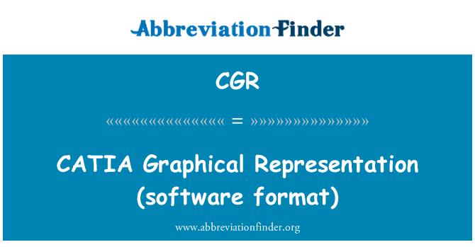 CGR: CATIA   Graphical Representation (software format)