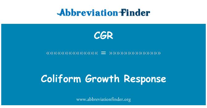 CGR: Coliform Growth Response