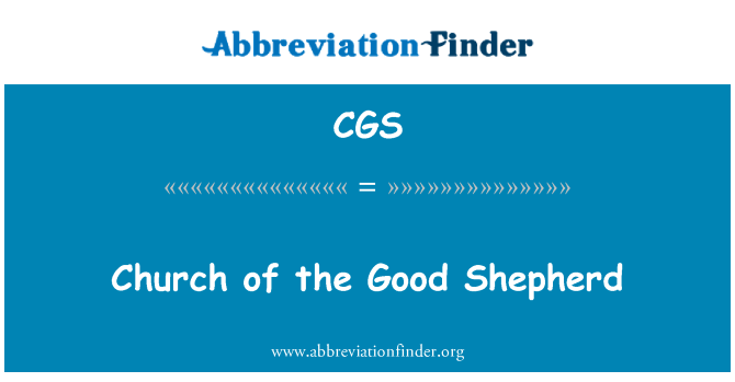 CGS: Church of the Good Shepherd