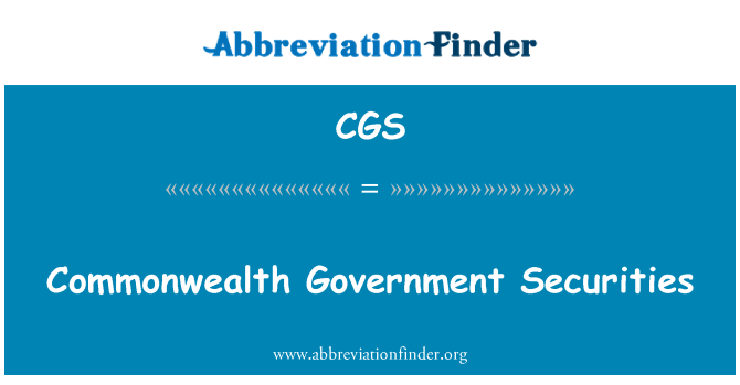 CGS: Commonwealth Government Securities