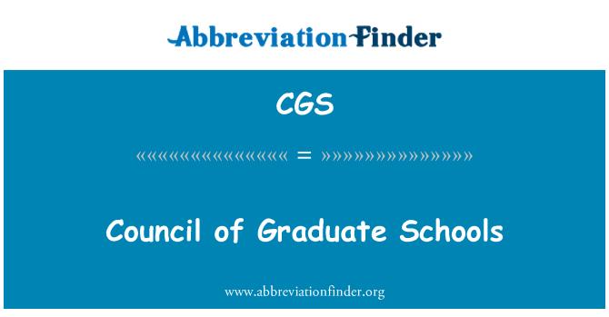 CGS: Council of Graduate Schools