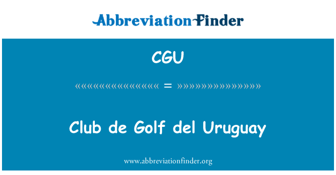 CGU: Club de Golf del Uruguay