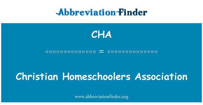 CHA: Christian Homeschoolers Association