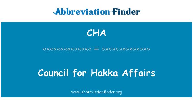 CHA: Council for Hakka Affairs
