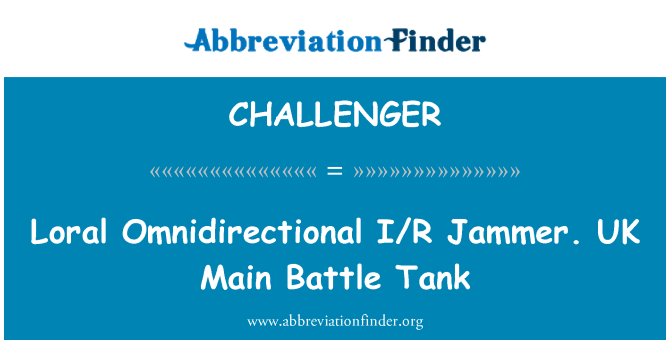 CHALLENGER: Loral Omnidirectional I/R Jammer. UK Main Battle Tank