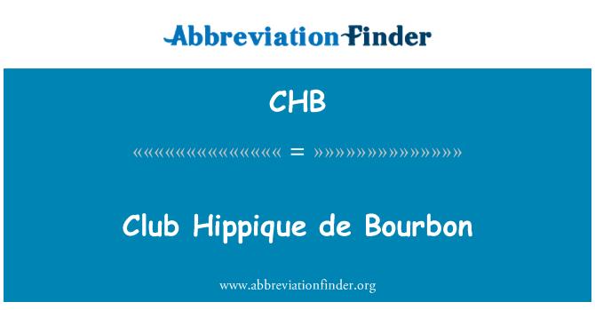 CHB: Club Hippique de Bourbon