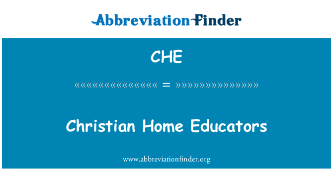 CHE: Christian Home Educators