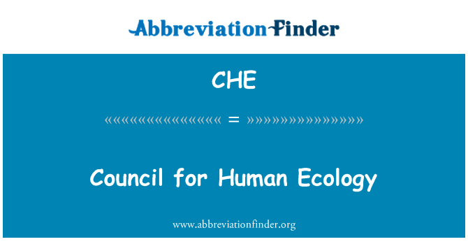 CHE: Council for Human Ecology