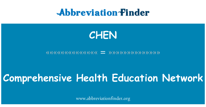 CHEN: Red de Educación de la salud integral