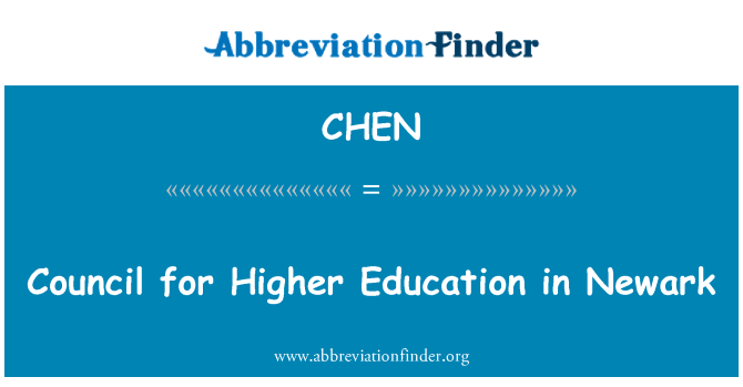 CHEN: Council for Higher Education in Newark