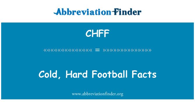 CHFF: 寒冷、 艰苦的足球事实