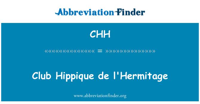 CHH: Club Hippique de l'Hermitage
