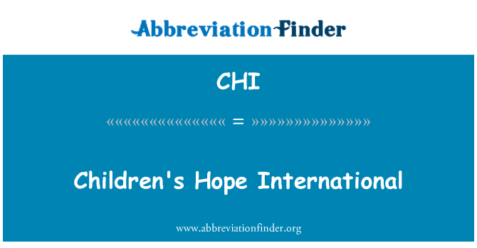 CHI: Children's Hope International