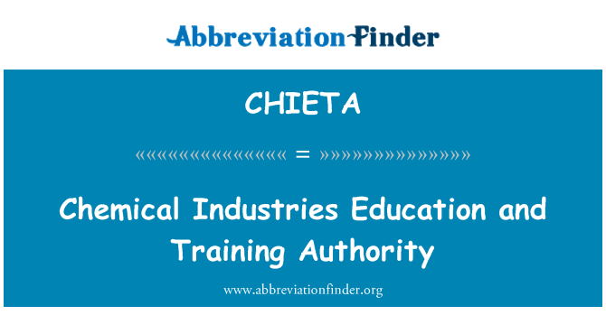CHIETA: Chemical Industries Education and Training Authority