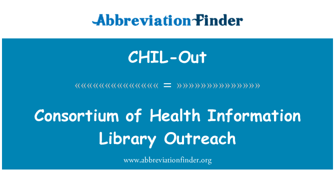 CHIL-Out: Consortium of Health Information Library Outreach