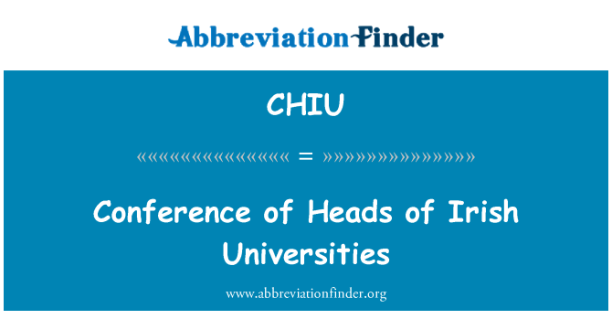 CHIU: Conference of Heads of Irish Universities