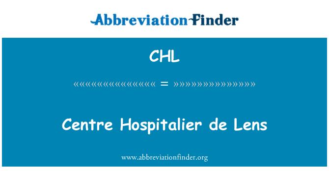 CHL: Centre Hospitalier de Lens