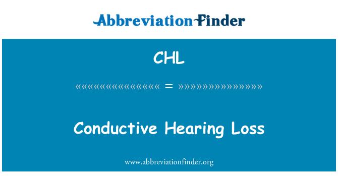 CHL: Conductive Hearing Loss