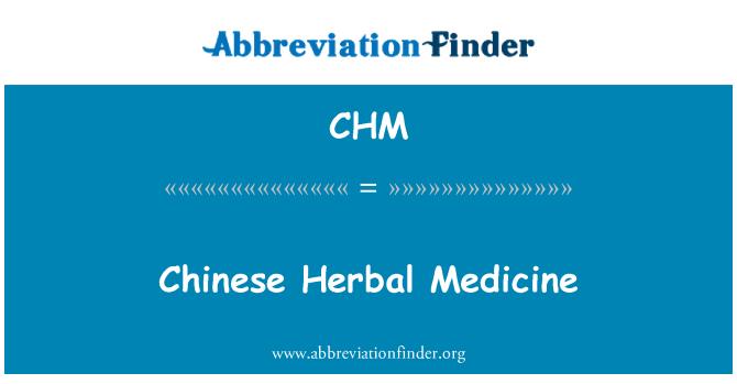CHM: Chinese Herbal Medicine