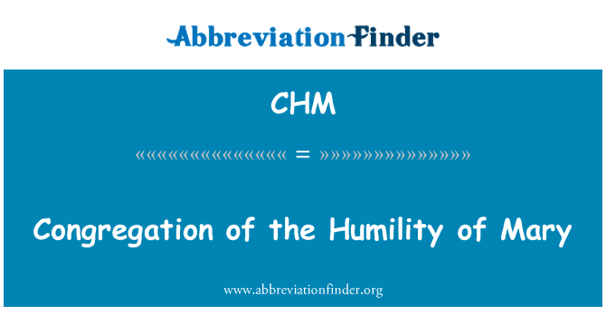 CHM: Congregation of the Humility of Mary