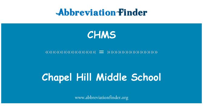 CHMS: Chapel Hill keskastme kool