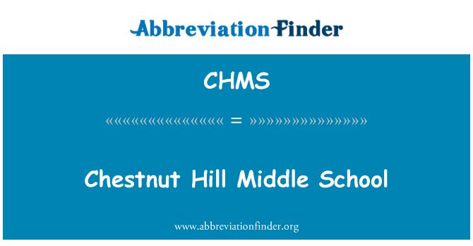 CHMS: Chestnut Hill Orta okulu