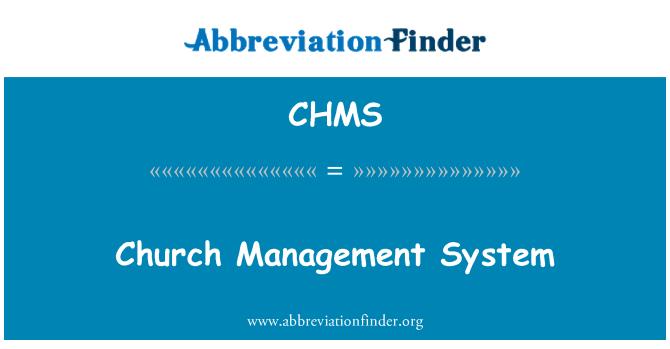 CHMS: Kiriku juhtimise süsteem