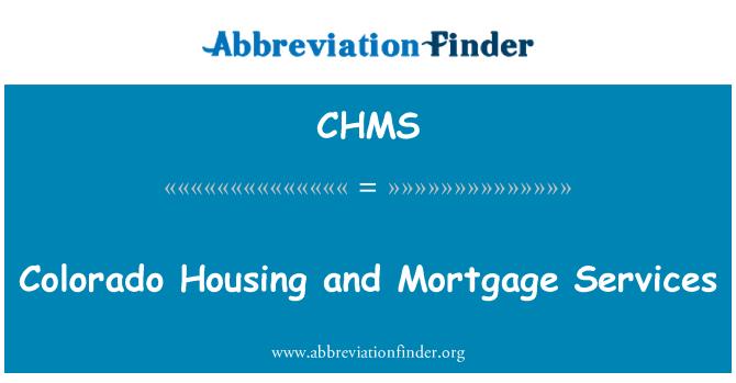 CHMS: Colorado konut ve ipotek Hizmetleri