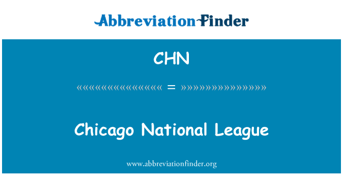 CHN: Chicago National League