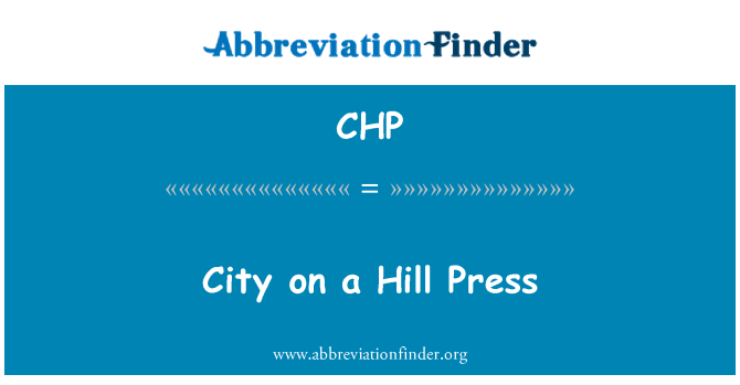 CHP: City on a Hill Press