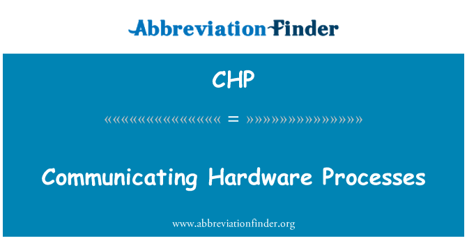 CHP: Communicating Hardware Processes