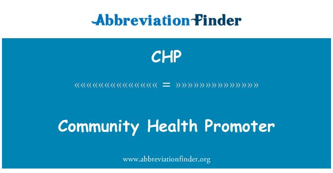CHP: Community Health Promoter