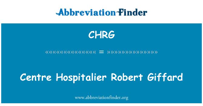 CHRG: مرکز ہوسپاٹالیر رابرٹ گاففرد