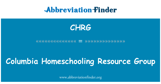 CHRG: Columbia Homeschooling Resource Group
