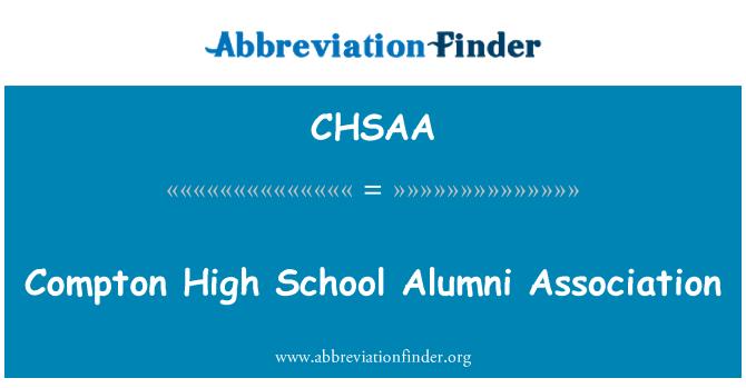 CHSAA: Compton High School Alumni Association
