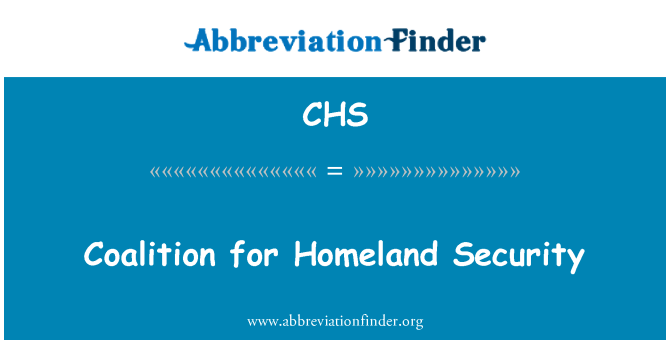CHS: Coalition for Homeland Security