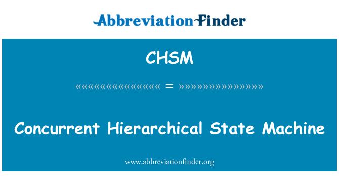 CHSM: بیک وقت کالز مراتب کے مطابق ریاستی مشین