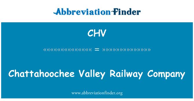 CHV: Chattahoochee Valley Railway Company