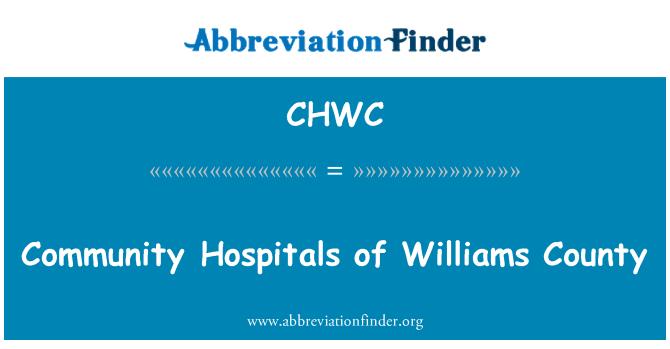 CHWC: Community Hospitals of Williams County