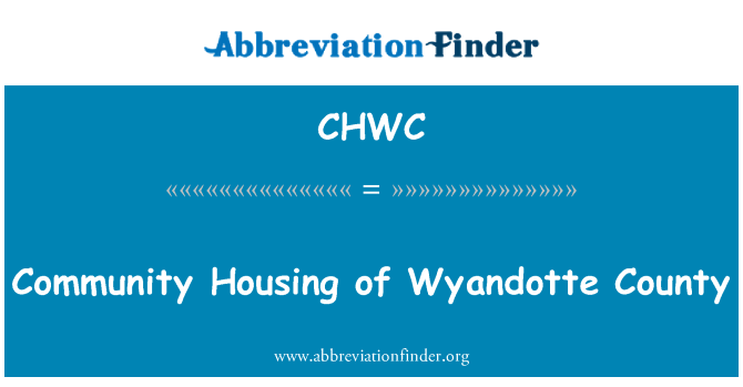 CHWC: Community Housing of Wyandotte County