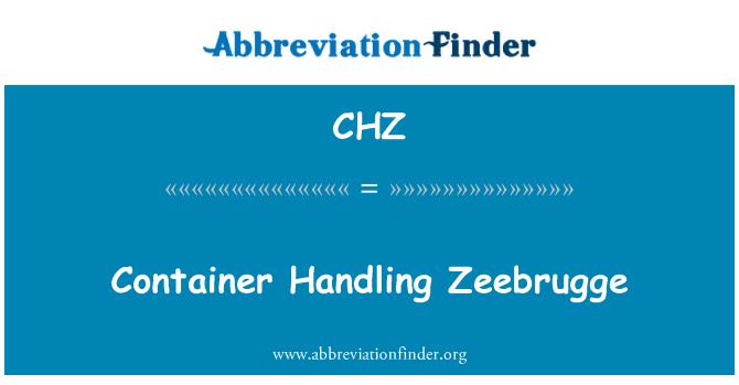 CHZ: Container Handling Zeebrugge