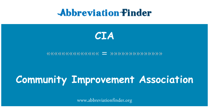 CIA: Community Improvement Association